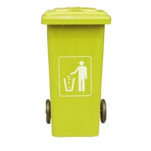 Thùng rác composite 120L màu vàng dep
