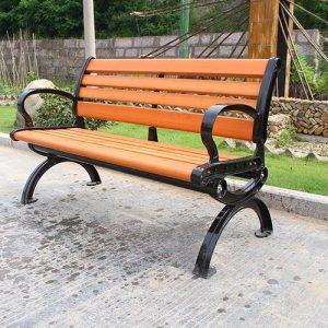 Ghế sân vườn nan (bằng) gỗ có tựa 1.5m