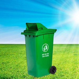 Địa chỉ bán thùng rác nhựa composite 240l nắp hở