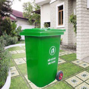 Thùng rác nhựa Composite nắp kín dung tích 240L