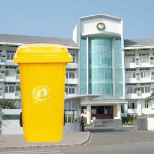 Thùng rác nhựa màu vàng 120l
