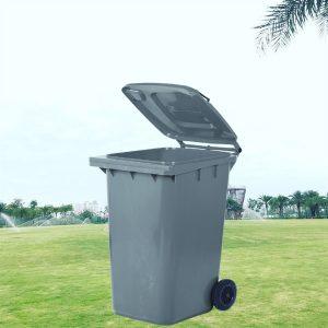 Thùng rác nhựa HDPE 240l màu ghi