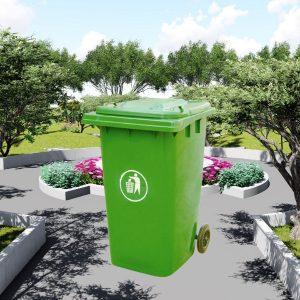 Thùng rác nhựa HDPE màu xanh lá dung tích 240l