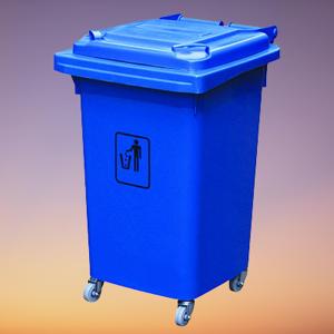 Thùng rác HDPE 60L xanh dương