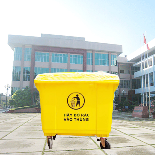 Thùng đựng rác y tế dung tích lớn 660l