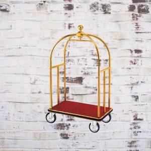 Xe đẩy hành lý inox mạ vàng đế thép phun sơn