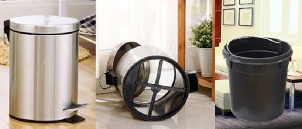 Hình ảnh cấu tạo thùng rác đạp chân 12 lít